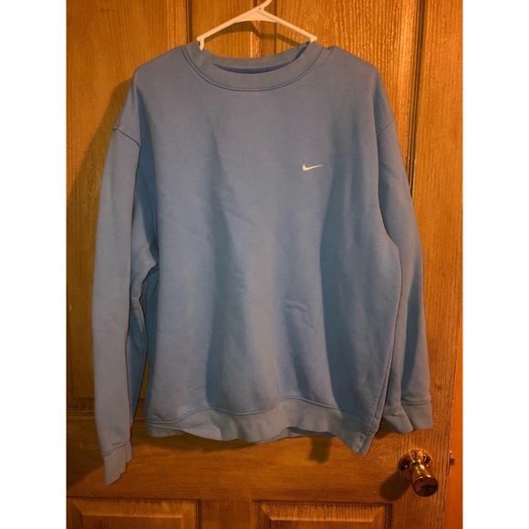 Light blue vintage Nike crewneck. Men's Large